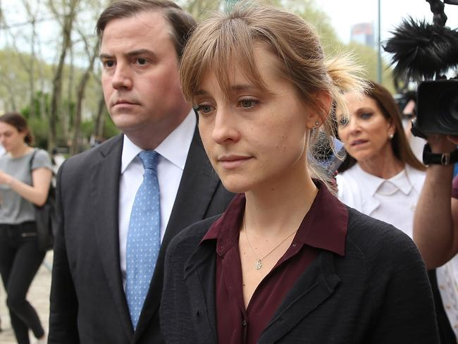 Actress Allison Mack is also facing jail time over the cult. Picture: Getty Images/AFP
