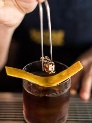 A pecan-infused vermouth, with toasted pecans caramelised with sugar. Picture: Supplied