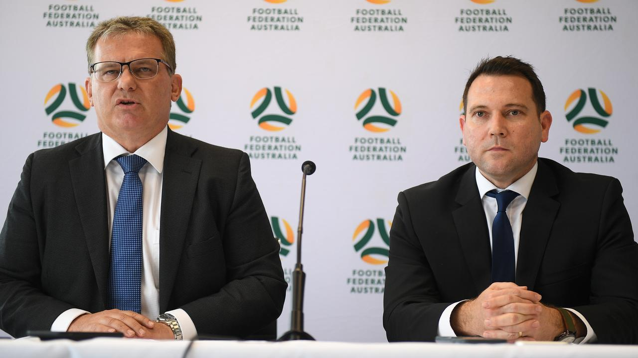 FFA Chairman Chris Nikou (L) and CEO James Johnson (R).