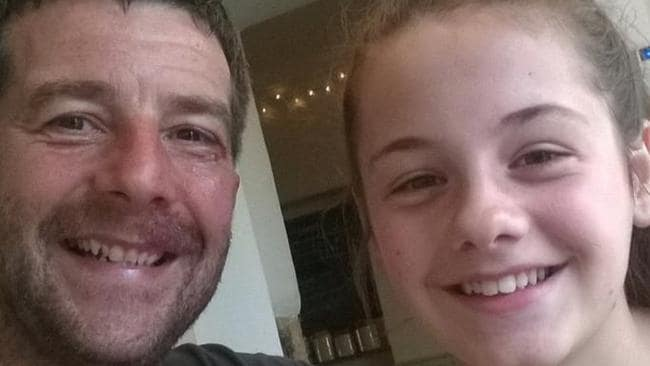 Craig Darwell and daughter Millie, 13. Picture: Facebook