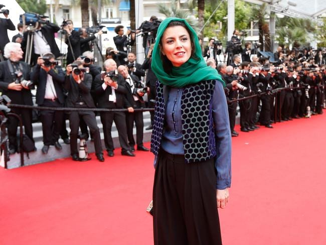 Leila Hatami in hot water after Cannes kiss.