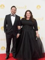Actors Ben Falcone and Melissa McCarthy attend the 66th Annual Primetime Emmy Awards. Picture: Getty