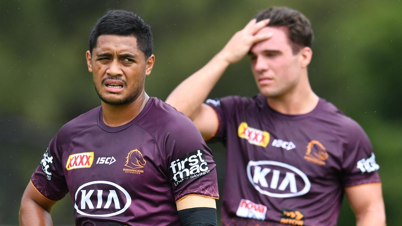 Anthony Milford (left) and Brodie Croft (right) will partner up in the halves. (AAP Image/Darren England)
