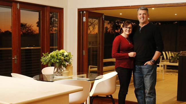 Tara and Mark Kelly fell in love with their new home in Morningside, Brisbane, which they bought at auction over the weekend. Picture: AAP Image/Josh Woning.