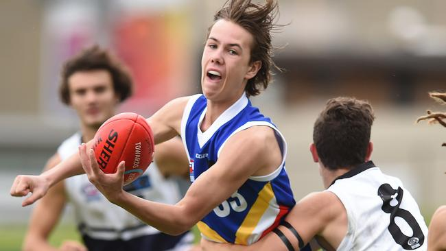 Tyler Brown is firming as a potential Collingwood father-son draft pick.