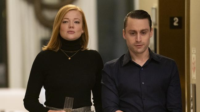 Sarah Snook says she enjoys the scenes between Shiv and Roman (Kieran Culkin) the most.