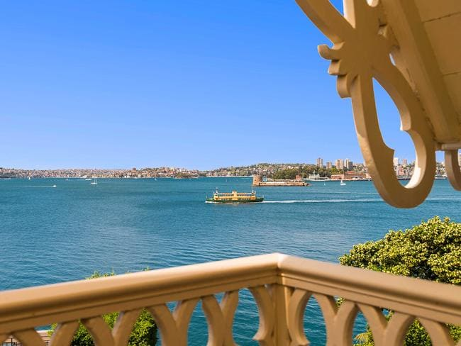 The Manly ferry passes by the property that has absolute water frontage.