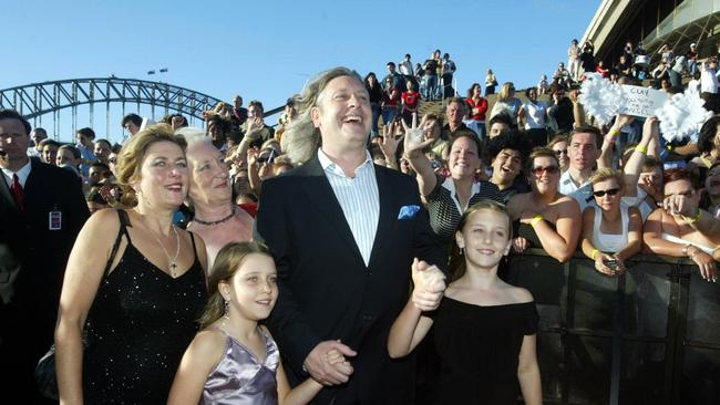 Dicko and his family on the red carpet at the Australian Idol final at the Opera House.