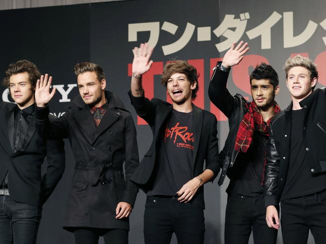 No rift ... Harry Styles, Liam Payne, Louis Tomlinson and Niall Horan are said to be supportive of Zayn Malik's decision. Picture: AP/Koji Sasahara
