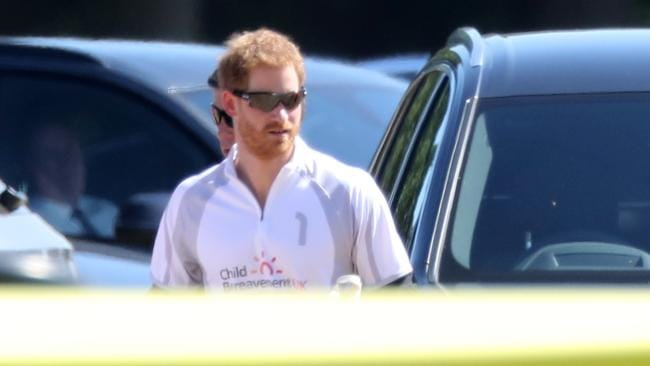 Prince Harry at the polo. Picture: Splash