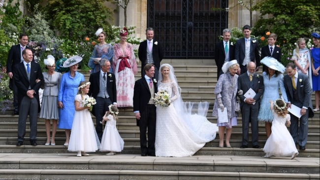 """The couple wed in """"quaint"""" St. George's Chapel in Windsor Castle. Image: Getty Images."""