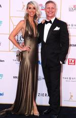 Aaron and Daniella Winter arrive at the 60th Annual Logie Awards at The Star Gold Coast on July 1, 2018 in Gold Coast, Australia. Picture: Chris Hyde/Getty Images