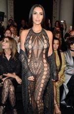 Kim Kardashian attends the Balmain show as part of the Paris Fashion Week Womenswear Spring/Summer 2017 on September 29, 2016. Picture: Getty