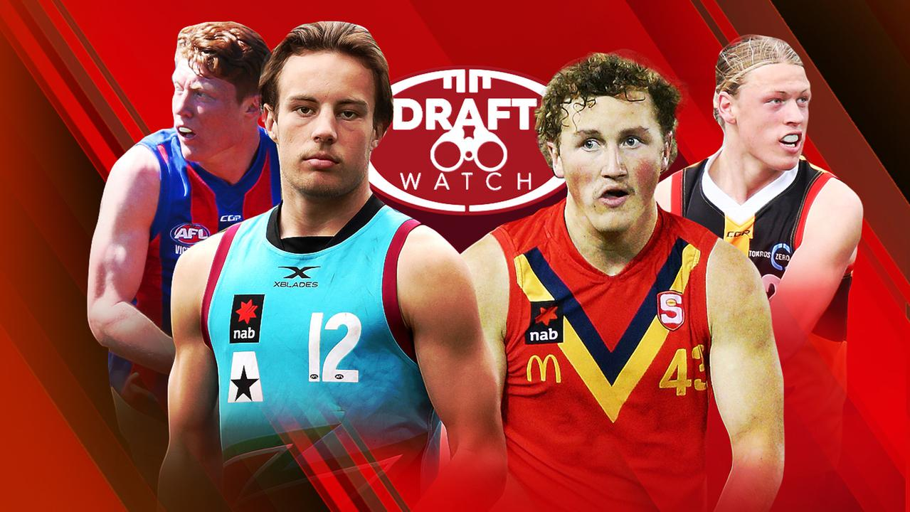 The top AFL draft prospects for 2019: Matthew Rowell, Mitch O'Neill, Will Gould and Hayden Young.