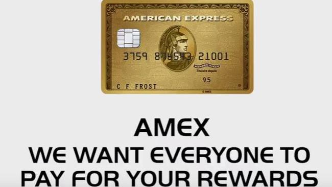 Choice has taken aim at American Express which they said makes everyone else pay for its generous rewards program. Picture: Screengrab/Choice