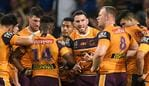 Darius Boyd of the Broncos speaks with teammates during the Second NRL Elimination Final between the Parramatta Eels and the Brisbane Broncos at Bankwest Stadium in Sydney, Sunday, September 15, 2019. (AAP Image/Joel Carrett) NO ARCHIVING, EDITORIAL USE ONLY