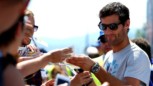 Webber paid a visit to the F1 fraternity in Austria.