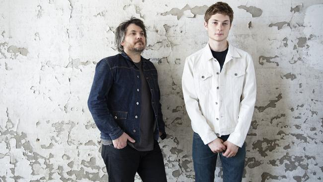 Family business ... Wilco frontman Jeff Tweedy teamed with son Spencer for his new album. Picture: Supplied.