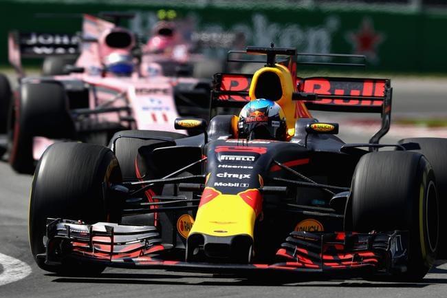 Ricciardo held off both Force Indias to claim the final podium position.