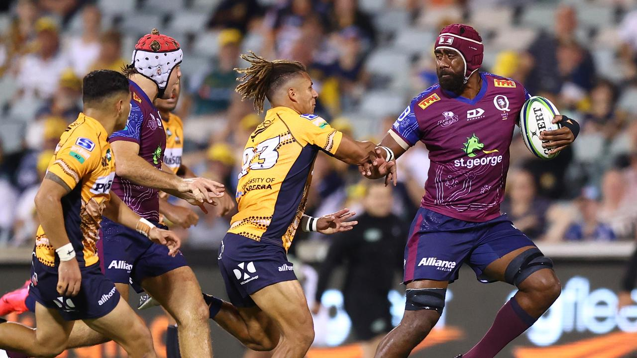 Seru Uru has been given a rare opportunity at No.8 with Harry Wilson to come off the bench against the Waratahs. Photo: Getty Images