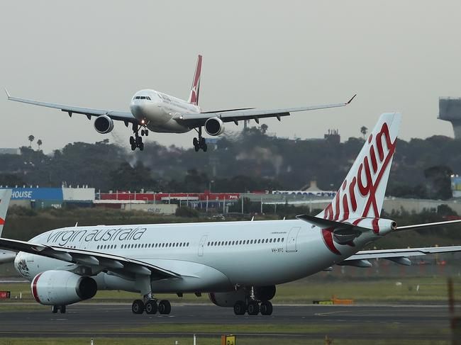 Qantas and Virgin planes came too close to each other near Brisbane. Picture: Brendon Thorne/Bloomberg