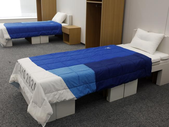 Beds in the Athletes Village for the Tokyo 2020 Olympic and Paralympic Games
