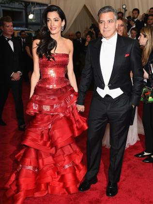 The Clooney's arrival in 2015. Image: Getty