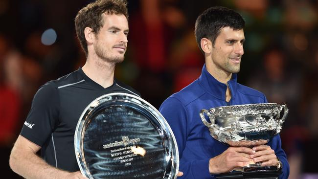 Novak Djokovic won his fourth Australian Open final against Andy Murray.
