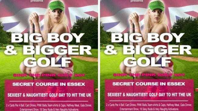 """We pride ourselves in offering the 'boys' a very naughty round of golf and an overall super-sexy day."" Image: Supplied."