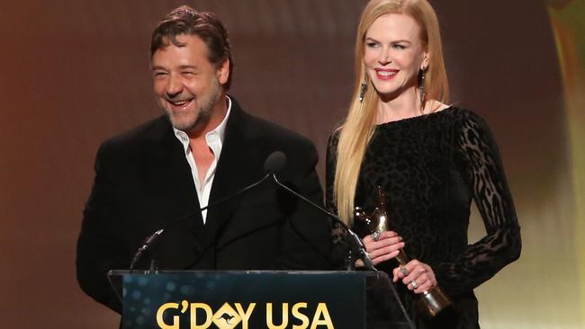 The actor, seen here with Nicole Kidman at a G'Day USA Gala, wants to make his citizenship official.
