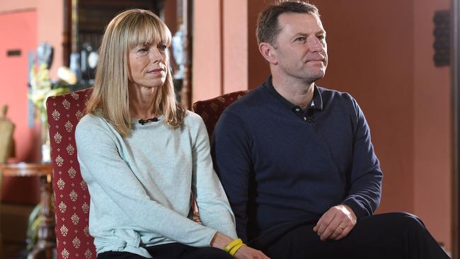 Maddie's parents Kate and Gerry McCann are fighting to stop Amaral cashing in on Maddie's disappearance. AFP/Joe Giddens