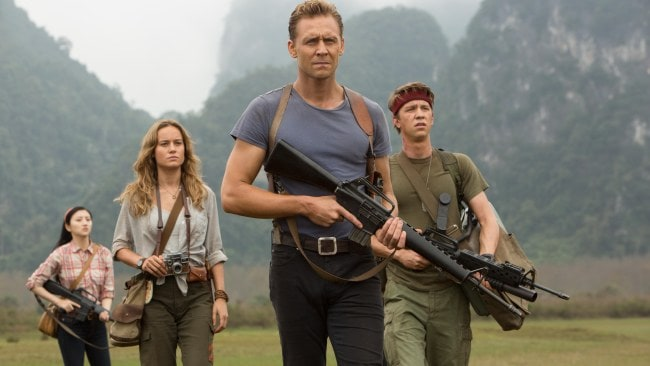 Tom Hiddleston and Brie Larson in Kong: Skull Island. Photo: Warner Bros