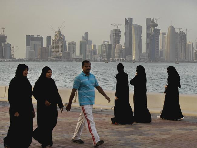 Doha has found itself cut off from its Gulf neighbours. Picture: Kamran Jebreili, File)