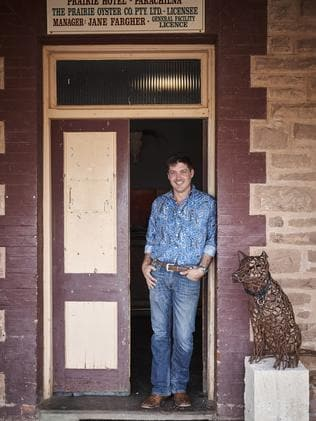 Parachilna Lachy Fargher of the Prairie Hotel in the Flinders Rangers to be featured on Home And Away. Picture: Supplied.
