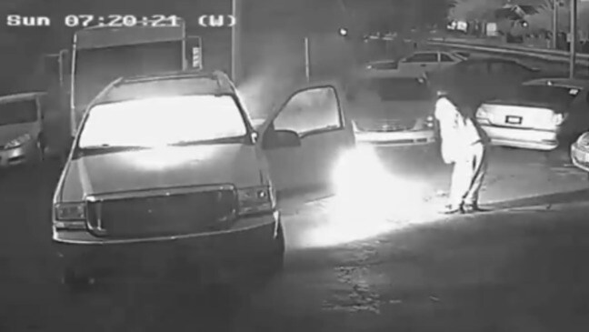 Masked Man Sets Fire to Cars at Phoenix Dealership