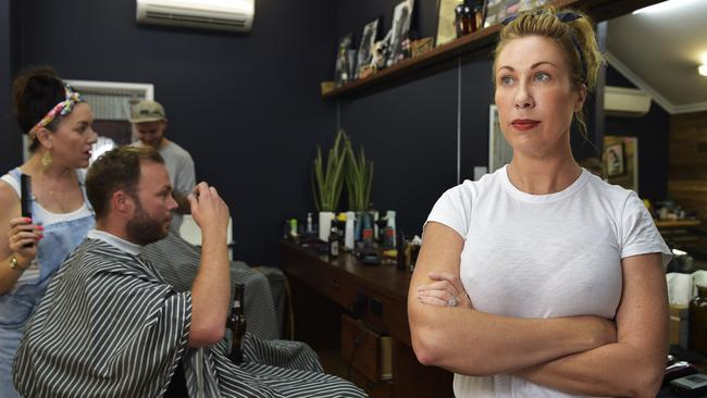 Star Barber owner Joy Arnott has had a woman lodge an anti-discrimination complaint against her because she only cuts men's hair. Picture: Keri Megelus