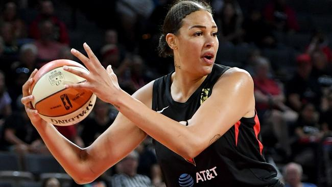 Liz Cambage in action for Las Vegas Aces in the WNBA.