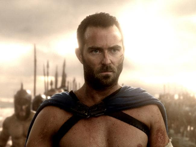 Action man ... Stapleton gets the Gerard Butler role in 300: Rise of an Empire.