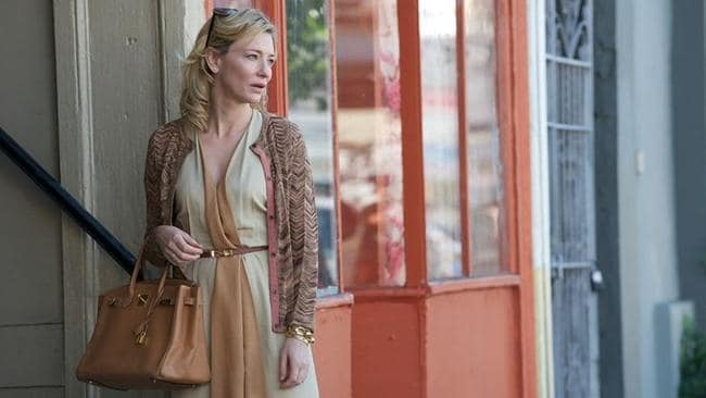Cate Blanchett in the film Blue Jasmine holding an Hermes Birkin.