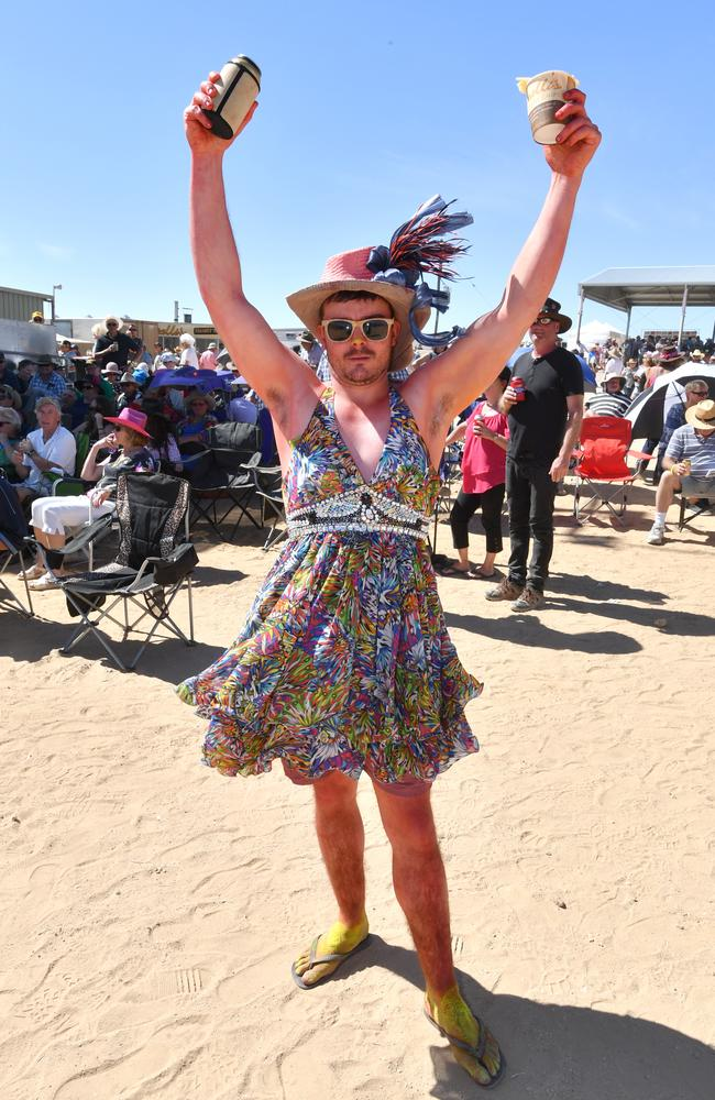 Jordan Wilson from Broken Hill at the Birdsville race meeting. Picture: AAP Image/Darren England.