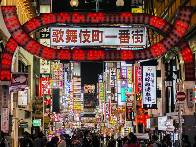 Kabukicho is one of the world's largest red-light districts. Picture: iStock