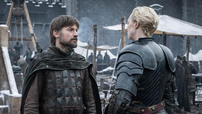 Nikolaj Coster-Waldau and Gwendoline Christie in  <i>Game of Thrones.</i> Picture: Supplied/HBO