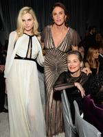Andreja Pejic, Caitlyn Jenner, and actor Sharon Stone attend the 25th Annual Elton John AIDS Foundation's Academy Awards Viewing Party at The City of West Hollywood Park on February 26, 2017 in West Hollywood, California. Picture: Getty
