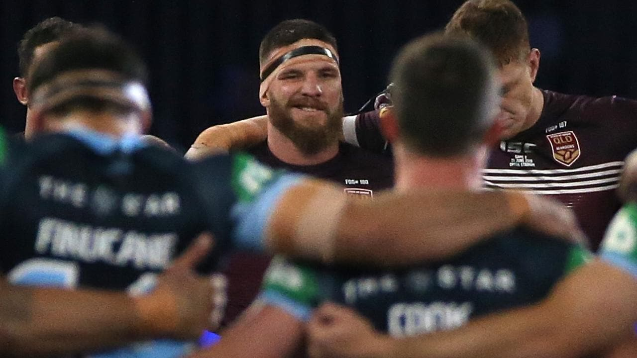 Josh McGuire of Queensland has been called out for his late shot on James Maloney.