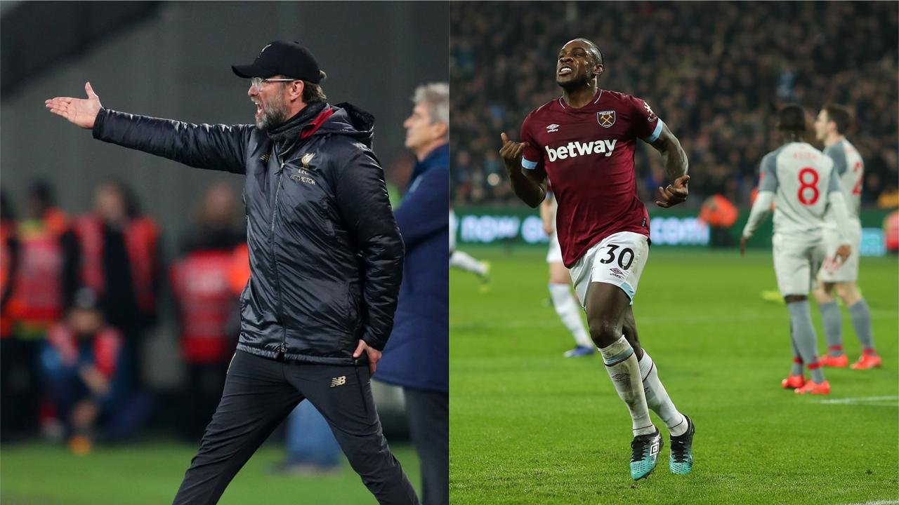 Liverpool dropped more points against West Ham as their lead was cut to just three
