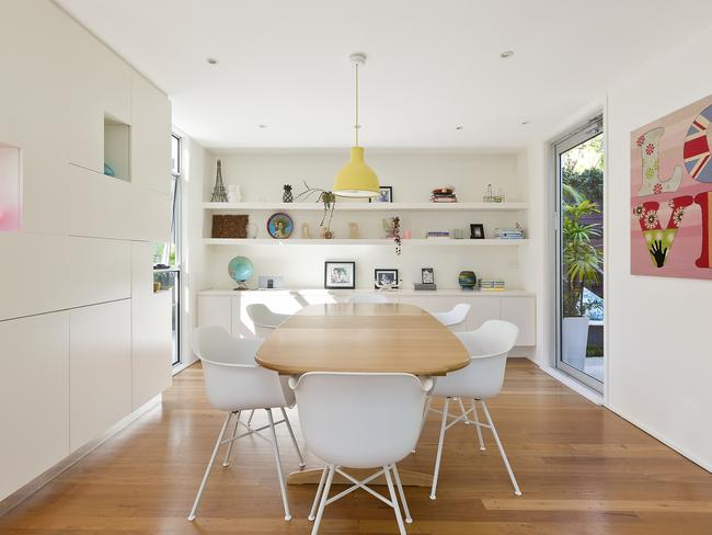 Custom-built joinery in the dining room.