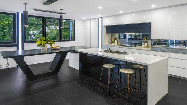 The kitchen is ultra modern.