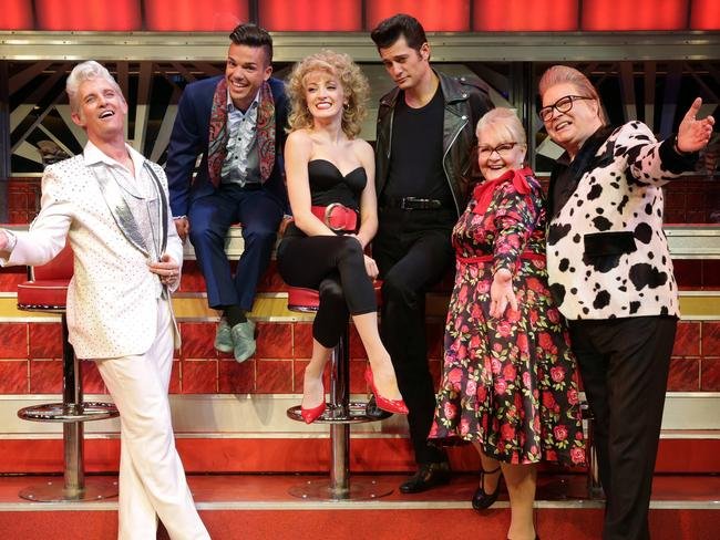 Anthony Callea and Val Lehman previously starred together in a stage production of Grease in Sydney. Picture: John Fotiadis