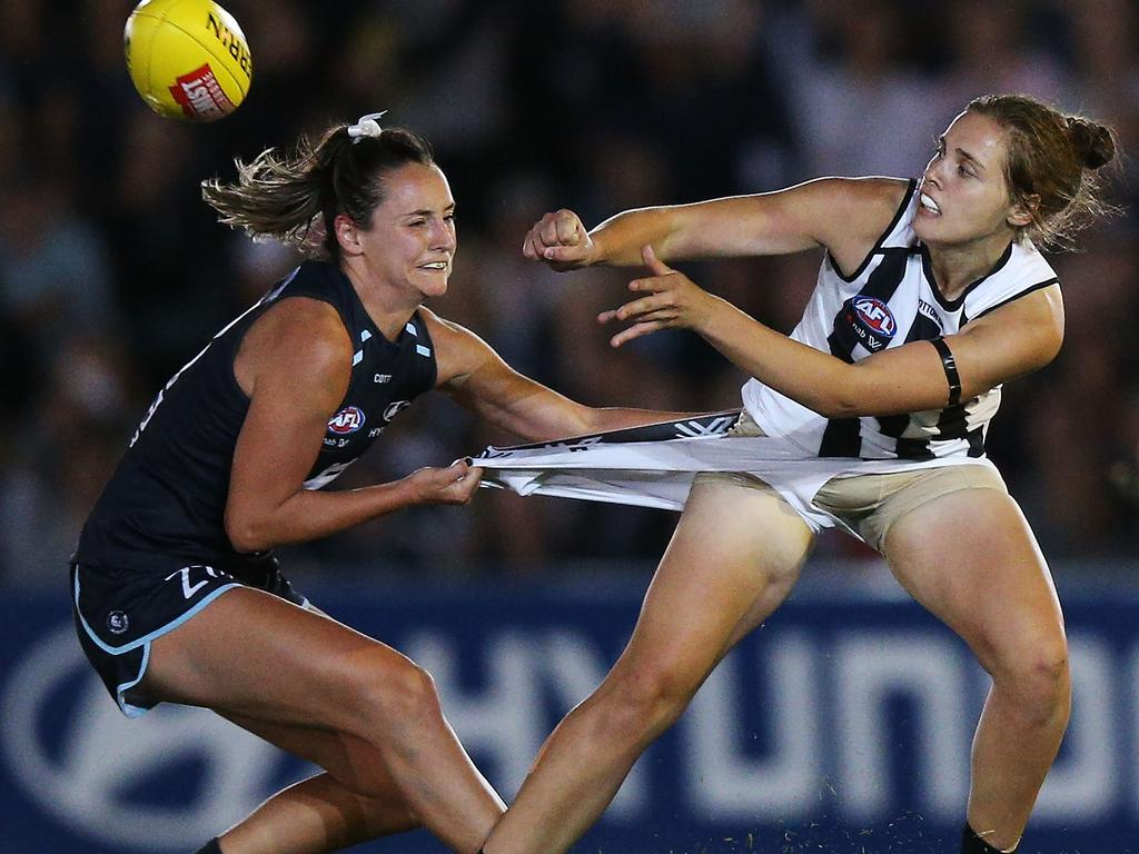 North Melbourne has all but poached Collingwood's Jasmine Garner. (Photo by Michael Dodge/Getty Images)