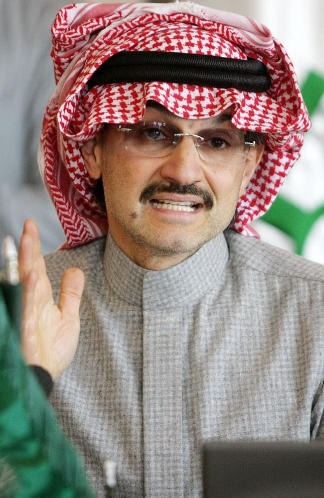 Detained: Saudi tycoon Prince Alwaleed bin Talal is among 201 people caught up in the corruption sweeps. Picture: AP